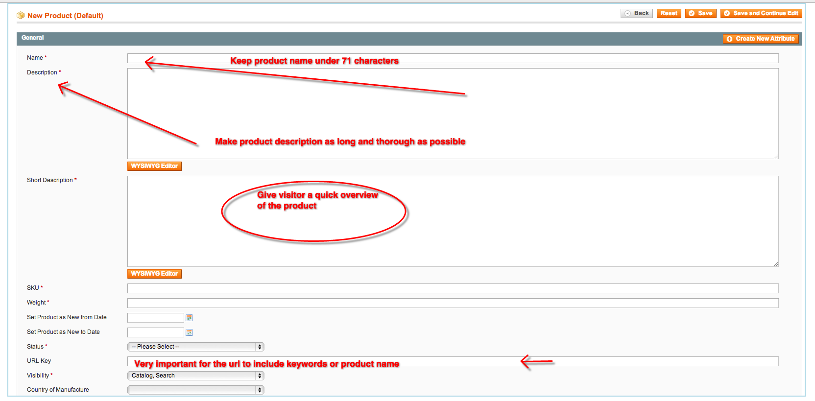 Magento Product Description SEO